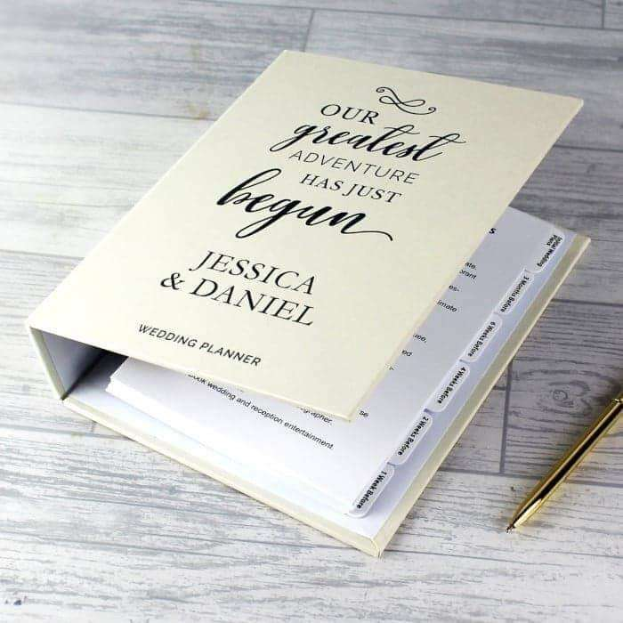 Personalised Our Greatest Adventure Wedding Planner from Pukkagifts.uk