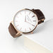 Elie Beaumont - Men's Modern-Vintage Personalised Leather Watch In Brown