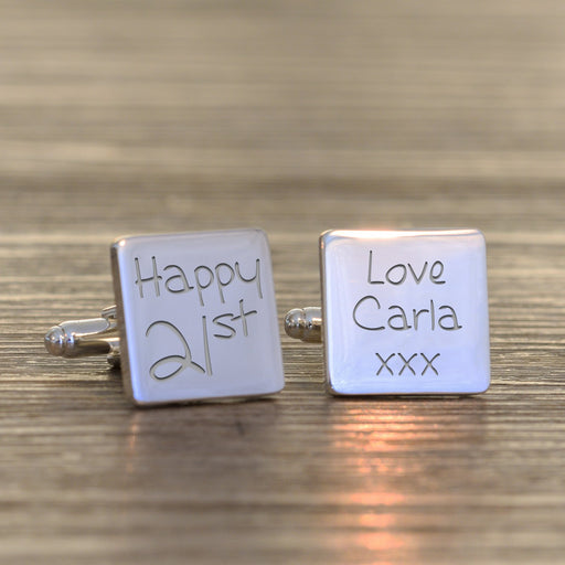 Personalised 21st Birthday Cufflinks