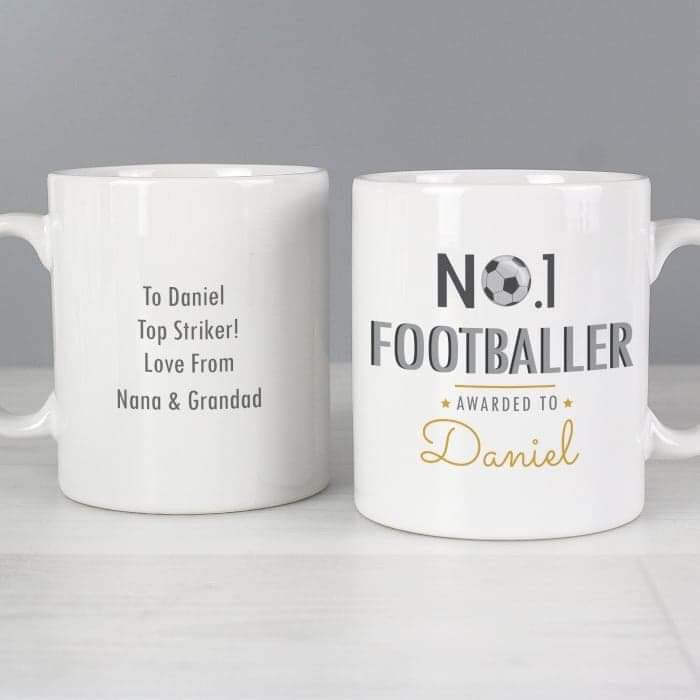 Personalised No.1 Footballer Mug from Pukkagifts.uk