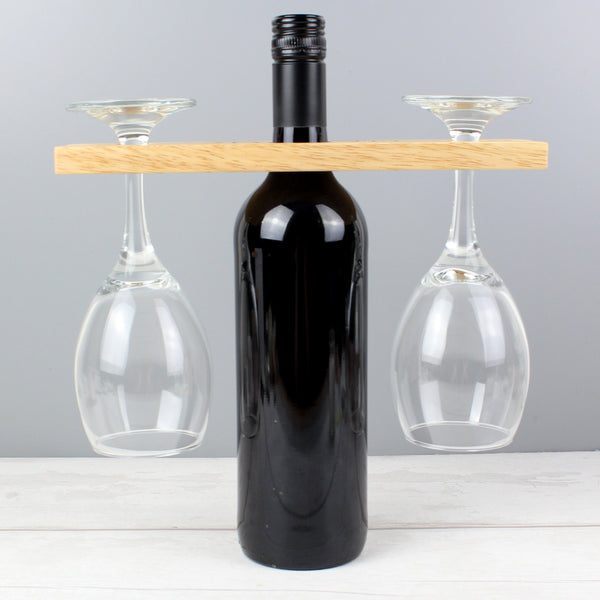 Personalised 'Wine O'clock' Wine Glass & Bottle Holder
