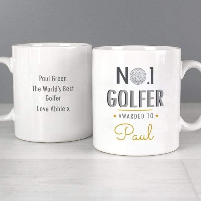 Personalised No.1 Golfer Mug from Pukkagifts.uk