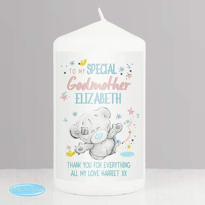 Personalised Me to You Godmother Pillar Candle - www.pukkagifts.uk