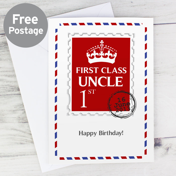 Personalised 1st Class Card