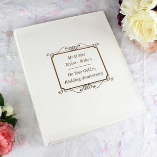 Personalised Gold Photo Album With Sleeves from Pukkagifts.uk