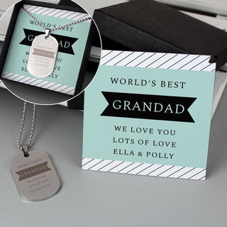 Personalised Dog Tag Necklace With Gift Box from Pukkagifts.uk
