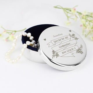 Personalised Garden Bloom Round Trinket Box - www.pukkagifts.uk