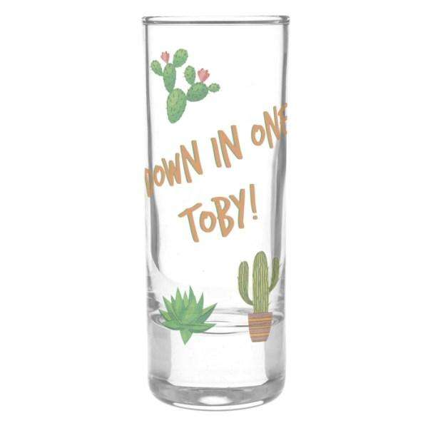 Personalised Cactus Shot Glass from Pukkagifts.uk