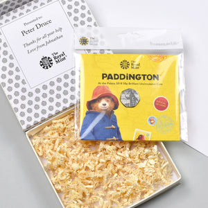 Royal Mint Paddington Bear 50p In A Personalised Gift Box