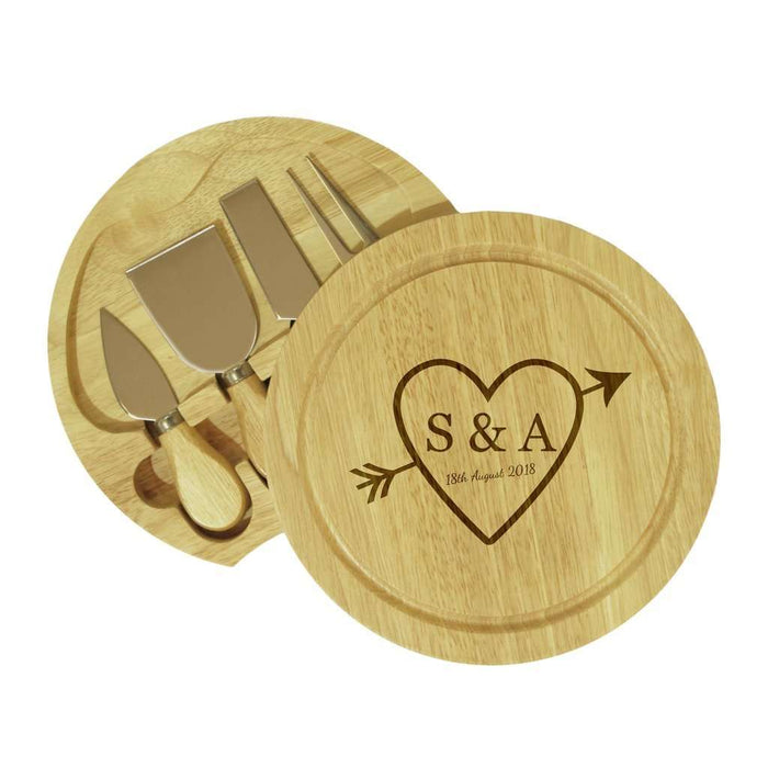 Sketch Heart Round Cheeseboard from Pukkagifts.uk