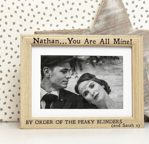 Personalised By Order Of The Peaky Blinders Photo Frame
