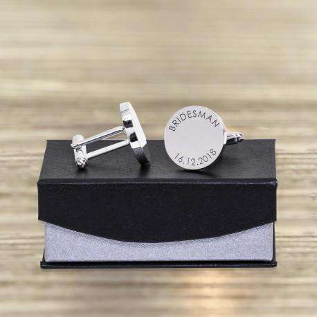 Personalised Bridesman Cufflinks from Pukkagifts.uk