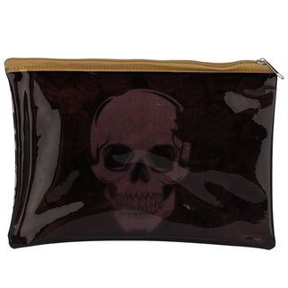 Skulls and Roses Clear Toiletry Bag / Make-Up Pouch from Pukkagifts.uk