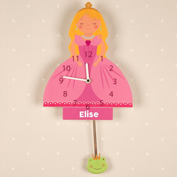 Personalised Princess Pendulum Wall Clock