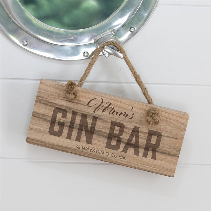 Personalised Gin Bar Sign