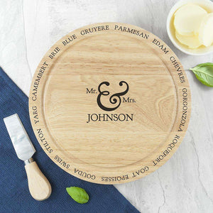 Personalised Connoisseur Couples Cheese Board Set,Pukka Gifts