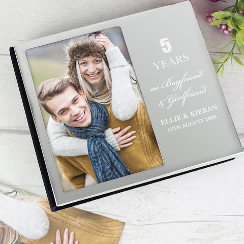 Personalised Anniversary Photo Frame Album 6x4 From Pukkagifts.uk