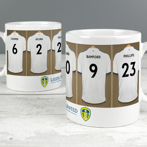 Personalised Leeds United Football Club Dressing Room Mug