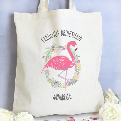Personalised Flamingo Cotton Tote Bag