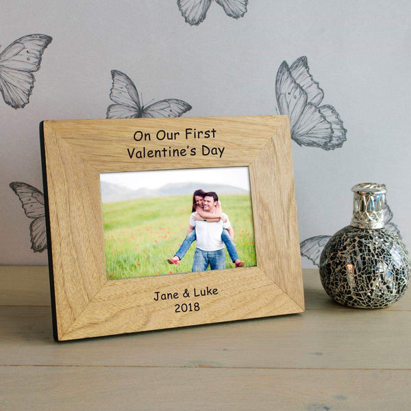 Personalised On Our First Valentines Day Photo Frame