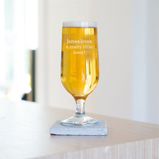 Personalised Special Message Craft Beer Glass