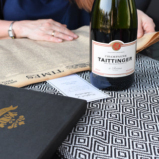 Tattinger Champagne and Original Newspaper