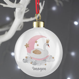 Personalised Swan Lake Bauble from Pukkagifts.uk