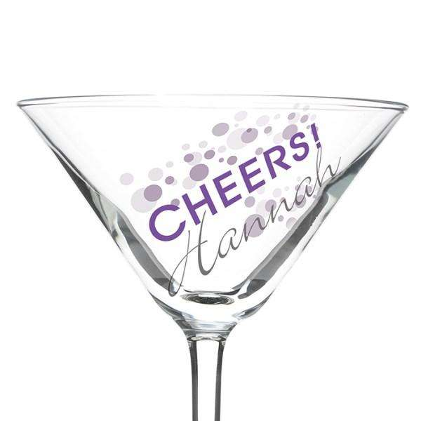 Personalised Cheers Celebration Cocktail Glass from Pukkagifts.uk