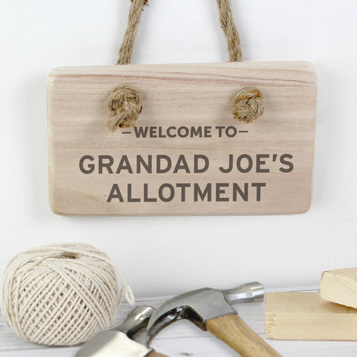 Personalised Welcome To... Wooden Sign