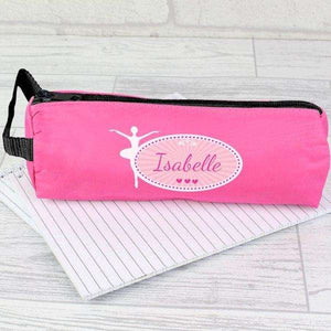 Personalised Ballerina Pink Pencil Case from Pukkagifts.uk