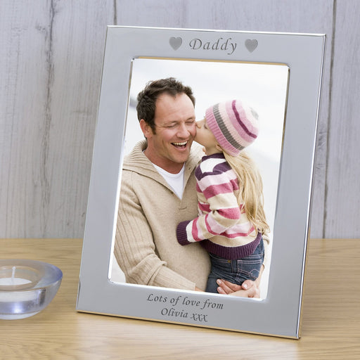 Personalised Daddy Silver Plated Photo Frame