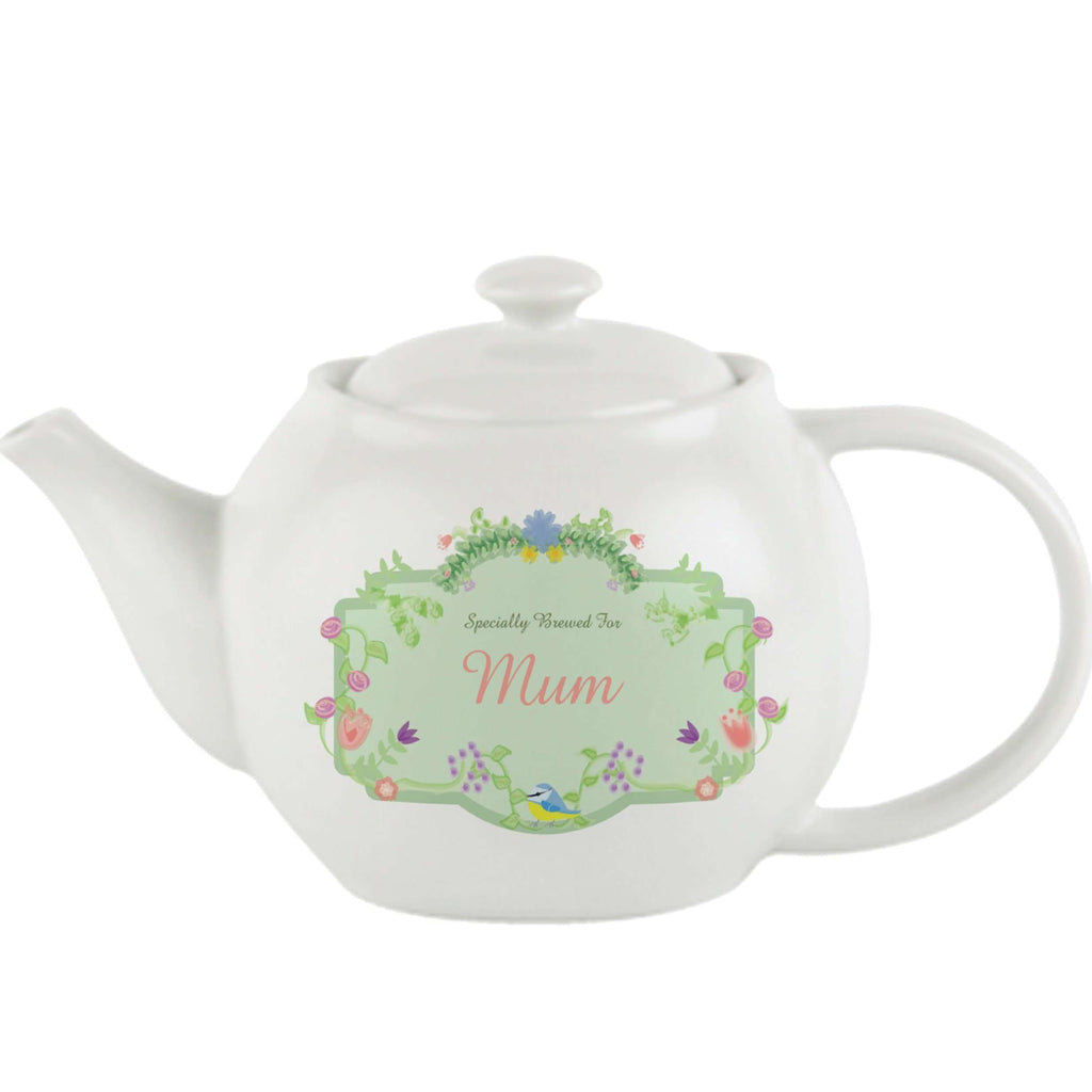 Personalised Spring Garden Teapot from Pukkagifts.uk