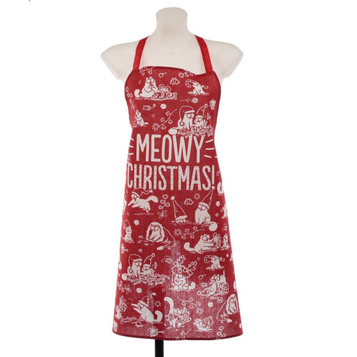 Poly Cotton Apron - Simon's Cat Meowy Christmas