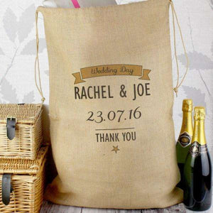 Personalised Classic Hessian Christmas Sack from Pukkagifts.uk