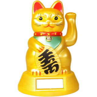 Solar Powered Chinese Lucky Waving Cat
