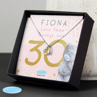 Personalised Me To You Birthday Sentiment Silver Tone Necklace and Box
