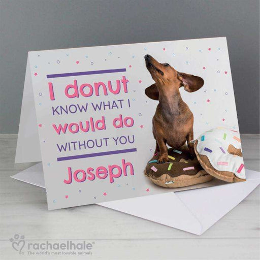 Personalised Rachael Hale 'I Donut Know' Card from Pukkagifts.uk