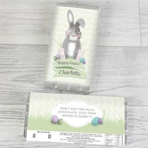 Personalised Easter Bunny Chocolate Bar from Pukkagifts.uk
