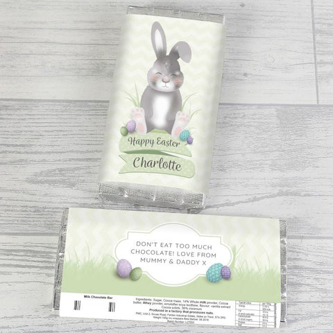 Personalised Easter Bunny Chocolate Bar | Easter Gift