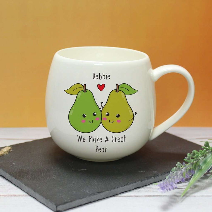 Personalised We Make A Great Pear Mug from Pukkagifts.uk