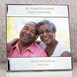 Any Message Silver Square 6x4 Personalised Photo Frame,Pukka Gifts