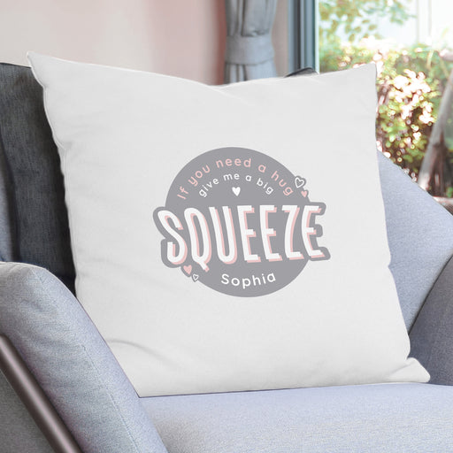Personalised Squeeze Me Cushion Cover