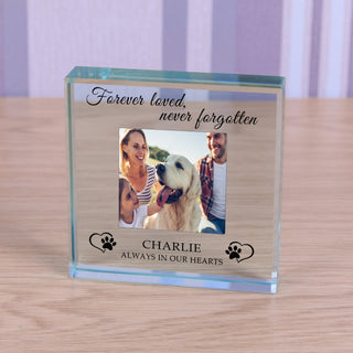 Personalised Dog Memorial Glass Token - Always In My Hearts