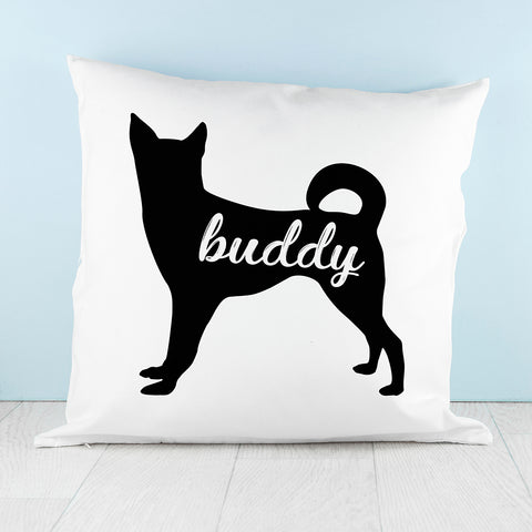 Personalised Husky Silhouette Cushion Cover