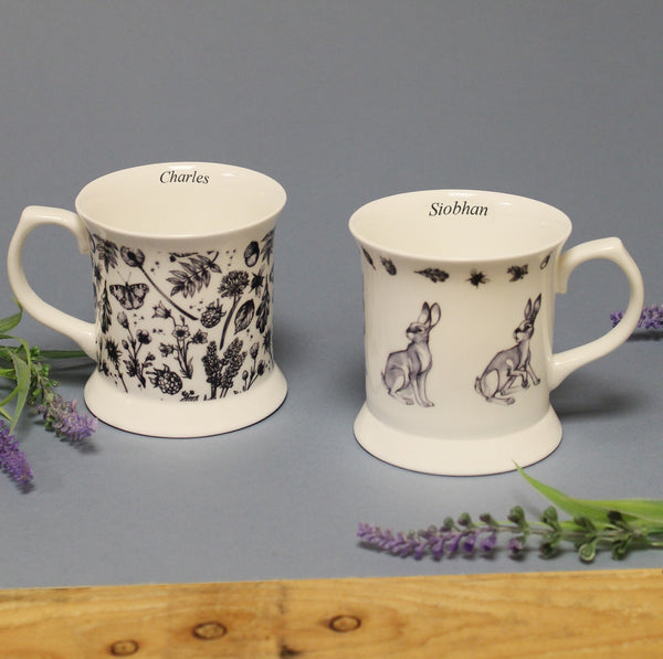Personalised Watership Down Bone China Mug Set