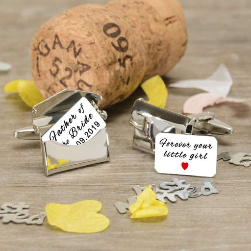 Father of the Bride Forever Your Little Girl Envelope Cufflinks from Pukkagifts.uk