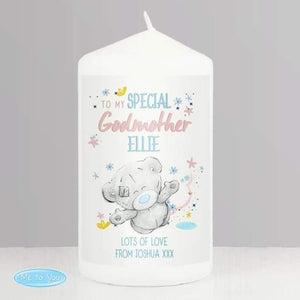 Personalised Me to You Godmother Pillar Candle from Pukkagifts.uk