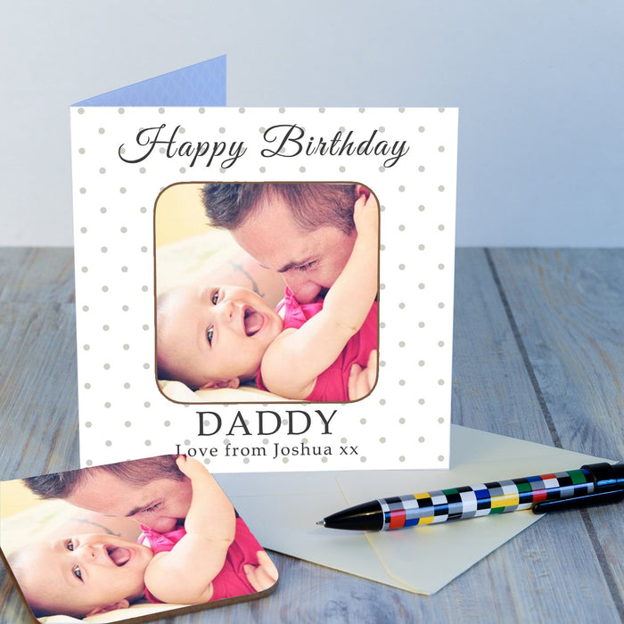 Personalised Photo Coaster Card - Happy Birthday