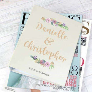Personalised Floral Watercolour Wedding Planner from Pukkagifts.uk