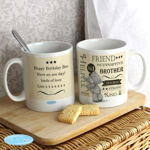 Personalised Me To You Typographic Mug from Pukkagifts.uk